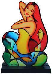 """Skulptur """"Goldfisch"""", Acrylglas"""