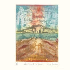 """Bild """"Miroir dans la dune"""" (1984), ungerahmt"""