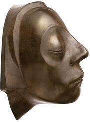 """Wandobjekt """"Kopf des Güstrower Ehrenmals"""", Reduktion in Bronze"""