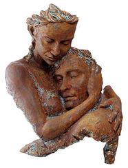 "Skulptur ""Agreement"", Kunstguss Steinoptik"