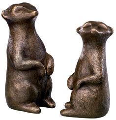 "2 Skulpturen ""Fifikus I und II"" (2012) im Set, Bronze"