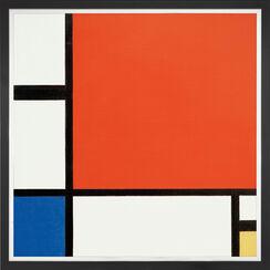 """Bild """"Komposition in Rot, Blau und Gelb"""" (1930), gerahmt"""