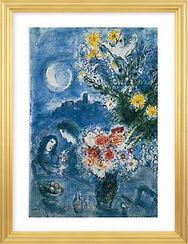 """Bild """"Abenderinnerung"""" (1959), gerahmt"""
