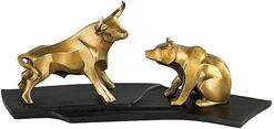 "Skulpturenpaar ""Bulle und Bär"", Version in Bronze"