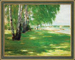 """Bild """"Der Garten des Künstlers am Wannsee"""" (1918), gerahmt"""
