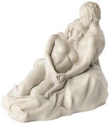 "Skulptur ""Liebespaar"" (2017), Version in Kunstmarmor"