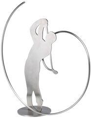 """Skulptur """"Golfer"""", Edelstahl"""