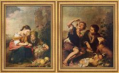 """2 Bilder """"Die kleine Obsthändlerin"""" + """"Die Pastetenesser"""" im Set"""