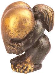 """Skulptur """"Heart of Gold"""" (Frau), Kunstguss"""