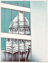 """Bild """"St. Peter gespiegelt"""" (1995), ungerahmt"""