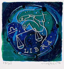 """Bild """"Sternzeichen Waage"""" (1996), gerahmt"""
