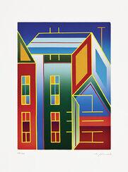 """Bild """"Zwei Häuser"""" (2001), ungerahmt"""