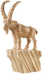 "Skulptur ""Steinbock"", Kunstguss Holzfinish"