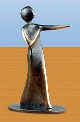 """Skulptur """"Mein Herz ruft nach dir!"""", Bronze"""