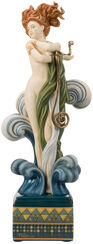 "Porzellanskulptur ""Venus"", handbemalt"
