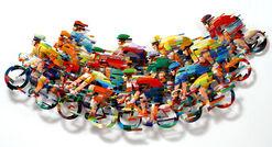 "3D-Wandskulptur ""Peleton Wave - big A"" (2008), Aluminium"