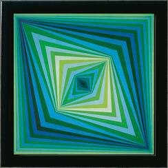 "Bild ""Rhombus"", gerahmt"