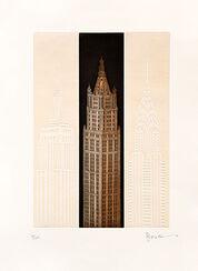 """Bild """"New York - Woolworth Building"""", ungerahmt"""