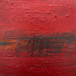 """Bild """"Kleine Landschaften in Rot 10"""" (2008) (Original / Unikat), ungerahmt"""