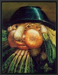 """Wendebild """"Der Gemüsegärtner"""", ca. 1590, gerahmt"""