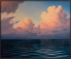 """Bild """"Wolken und Meer VI"""" (Original / Unikat), gerahmt"""