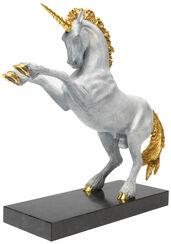 """Skulptur """"Einhorn"""" (2015), Version Bronze weiß teilvergoldet"""