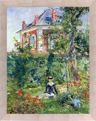 """Bild """"Marguerite im Garten von Bellevue"""" (1880), gerahmt"""