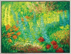 """Bild """"Garten"""" (2011) (Original / Unikat), gerahmt"""