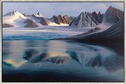 """Bild """"Gletschersee"""" (2012), gerahmt"""