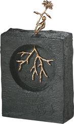 """Skulptur """"Kräfte messen"""", Bronze mit Kunststein"""