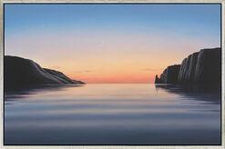 """Bild """"Abendliche Bucht IV"""", gerahmt"""