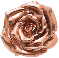 "Skulptur ""Rose"" (2012), Version rosévergoldet"