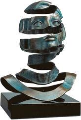 """Bronzeskulptur """"Hülle"""" - nach M. C. Escher"""