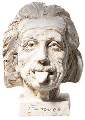 """""""Einstein-Kopf"""" (groß), Kunstmarmor"""