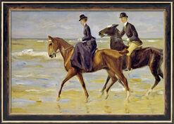 """Bild """"Reiter und Reiterin am Strand"""" (1903), gerahmt"""