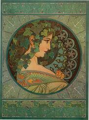 "Glasbild ""Efeu"" (1901)"