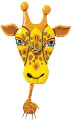 """Wanduhr """"Giraffe"""", Keramik handbemalt"""