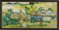 """Bild """"Bauernhöfe bei Auvers"""" (1890), gerahmt"""