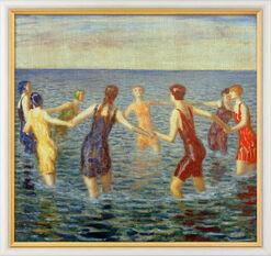 """Bild """"Badende Frauen"""" (um 1920), gerahmt"""