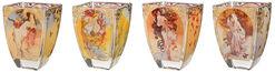 """Glas-Teelichter """"Vier Jahreszeiten"""", 4er-Set"""