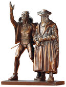 "Skulpturengruppe ""Faust und Mephisto"", Reduktion in Bronze"