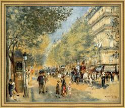 """Bild """"Die großen Boulevards"""" (1875), gerahmt"""