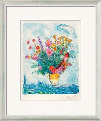 """Bild """"Le Bouquet et la Tour Eiffel"""", gerahmt"""