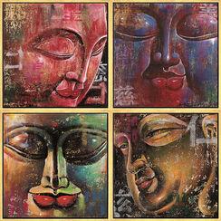 4 Buddha-Bilder im Set