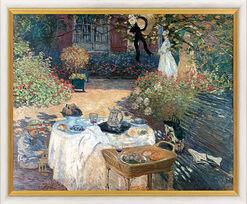"Bild ""Im Garten Claude Monets in Argenteuil"" (1873), gerahmt"
