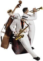"Porzellanfigur ""Jazz Trio"", handbemalt"