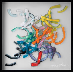 """Glasbild """"Abstract Colours"""""""