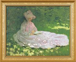 """Bild """"Die Lesende"""" (1872), gerahmt"""
