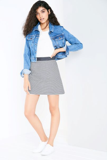 DOLBY STRIPED ALINE SKIRT