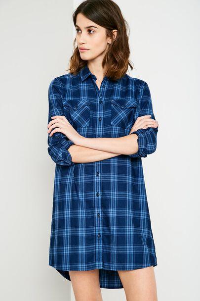 MAGGIE CHECK SHIRT DRESS
